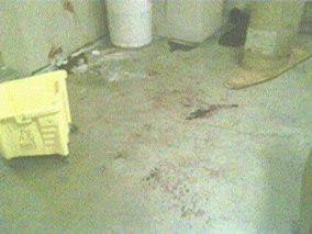 bloody floor
