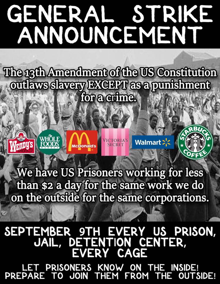Poster for General Strike Announcement Sept 9 2016