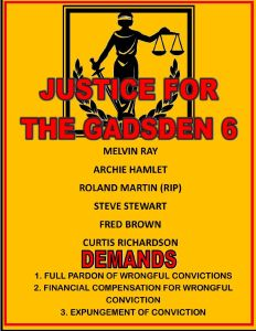 Justice for the Gadsden 6 poster